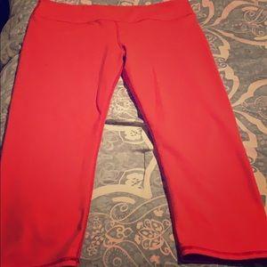Womens Fabletics Orange Salar leggings